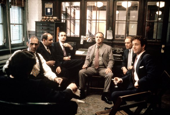 THE GODFATHER, Abe Vigoda, Richard S. Castellano, John Cazale, Marlon Brando, Robert Duvall, James C